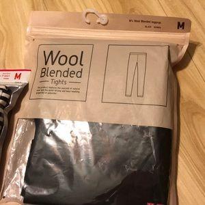 Uniqlo heat tech extra warm wool blended legging M